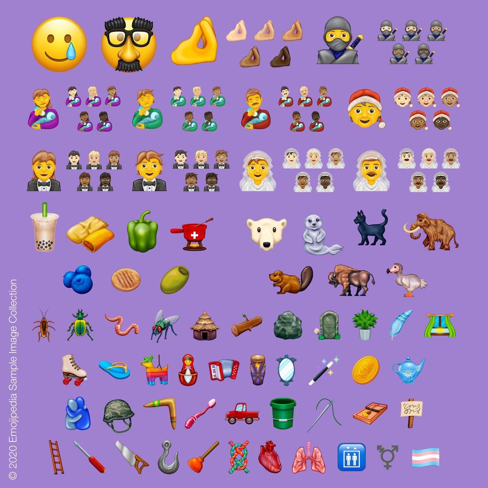 Unicode revela novos emojis para 2020