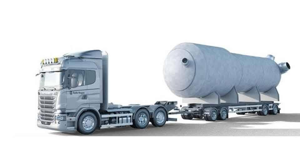 'Mini' reatores nucleares  entregues em blocos pré-fabricados por caminhões e montados no local