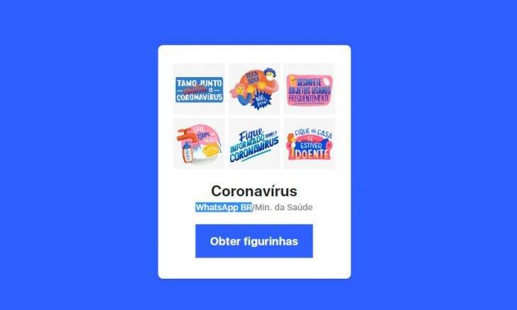 Ministério da Saúde lança figurinhas de WhatsApp sobre coronavírus