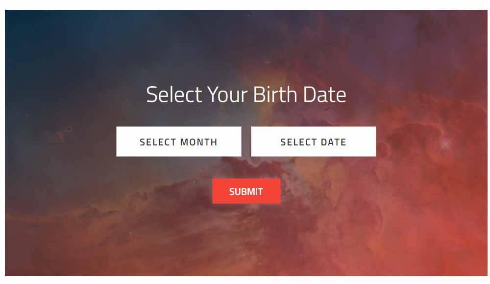 O que o Hubble viu no seu aniversário? Digite o mês e a data abaixo para descobrir!