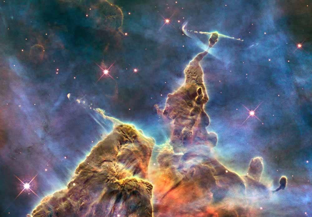 O que o telescópio espacial Hubble fotografou na data do seu aniversário?
