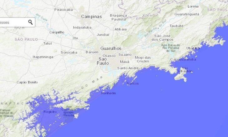 Site simula como seria se todo o gelo do mundo derretesse