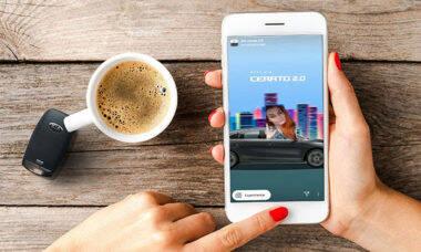 """Kia lança filtro de Instagram para """"dirigir"""" Cerato sem sair de casa"""