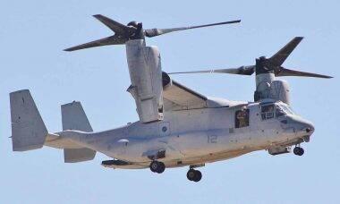 Marines dos EUA apresentam novo sistema de armas Osprey