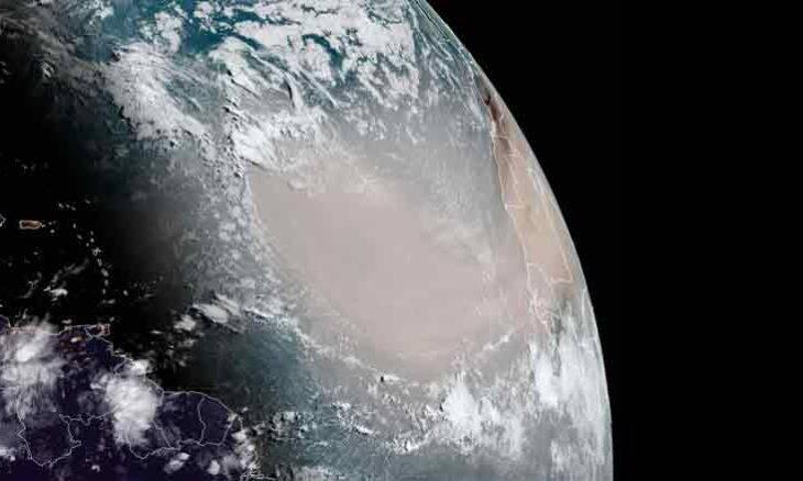 Nuvem de poeira viaja dez mil quilômetros do Saara para as Américas