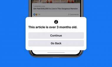 Facebook vai alertar usuário sobre compartilhamento de notícia velha