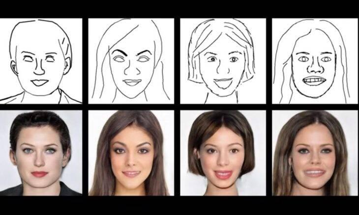 Investigadores criam rostos realistas a partir de simples rabiscos