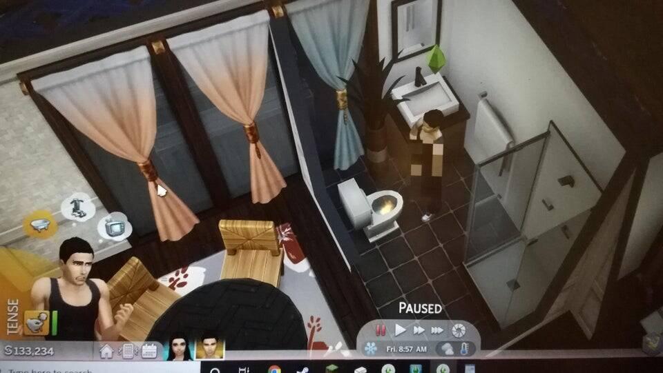 """Bug em """"The Sims 4"""" faz personagens urinarem fogo"""