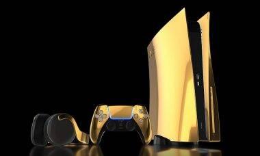 Empresa anuncia PlayStation 5 banhado a ouro