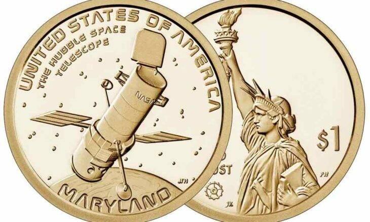 Telescópio Hubble é homenageado em moeda de ouro de 1 dólar