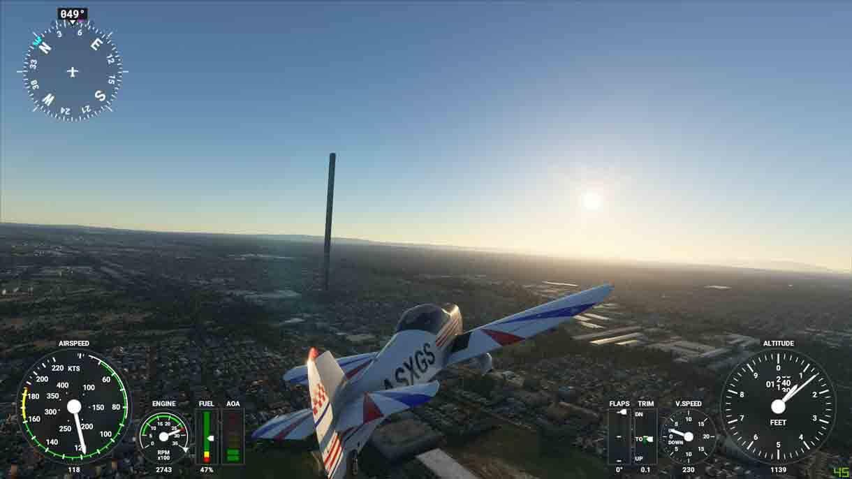 Erro cria prédio de 212 andares no Flight Simulator