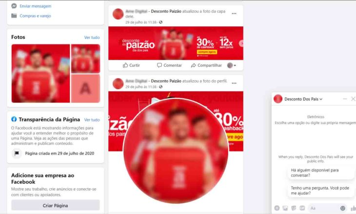 Golpistas tentam roubar dados bancários com ofertas de Dia dos Pais no Facebook e WhatsApp. Foto: Divulgação/PSafe