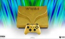 Microsoft lança edição especial do Xbox One X folheado em ouro 24 quilates. Foto: Divulgação