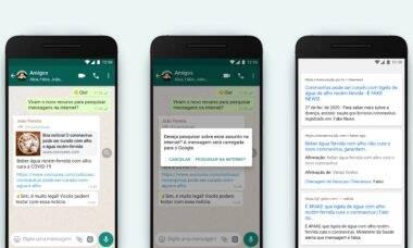 Contra fake news, WhatsApp vai permitir pesquisa de conteúdo compartilhado no Google