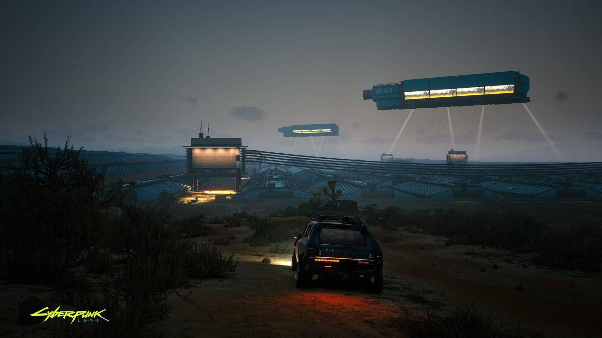 """Nova imagem de """"Cyberpunk 2077"""" mostra imagem das Badlands"""