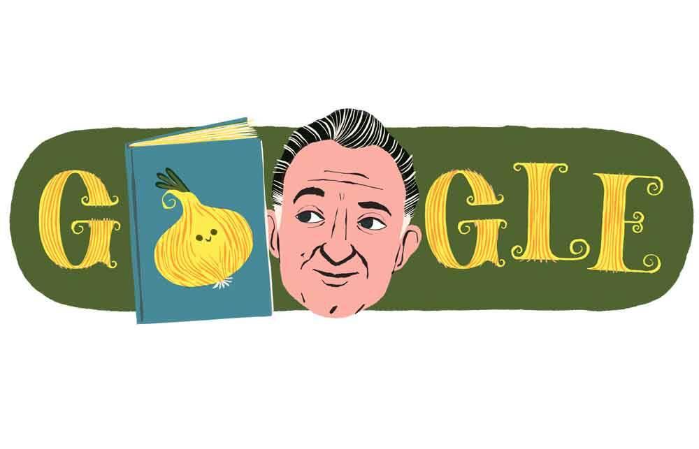 Google homenageia o 100º aniversário de Gianni Rodari. Foto: reprodução
