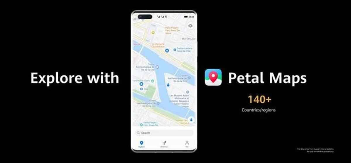 Huawei lança Petal Maps, seu próprio Google Maps . Foto: Divulgação