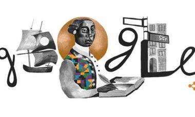 Google Doodle homenageia a vida do filósofo alemão Anton Wilhelm Amo. Foto: Reprodução Google