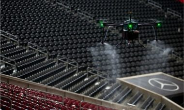 Drone vai ser usado para desinfectar estádio nos EUA