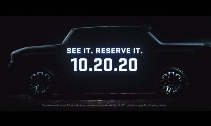 GMC divulga novo vídeo da picape elétrica Hummer EV