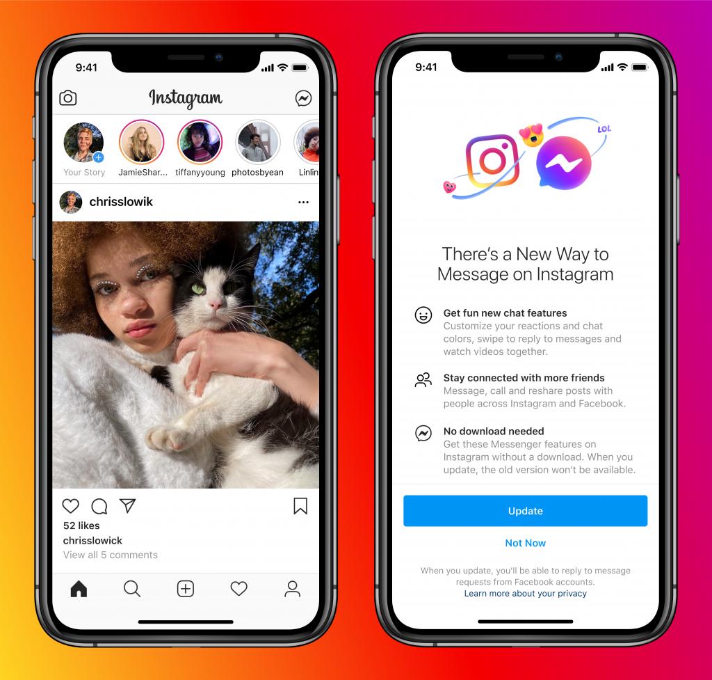 Facebook vai integrar mensagens do Instagram e Messenger