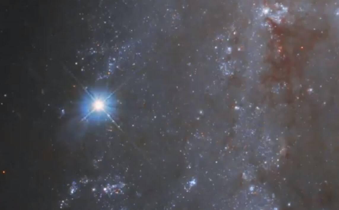 Hubble flagra o momento de explosão de uma estrela