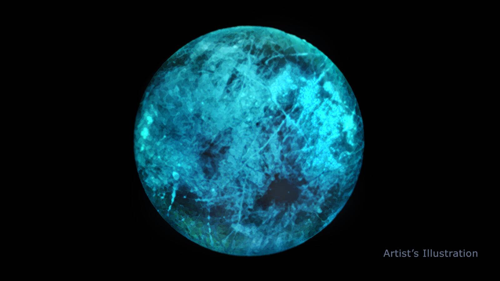 Lua de Júpiter tem gelo que brilha no escuro