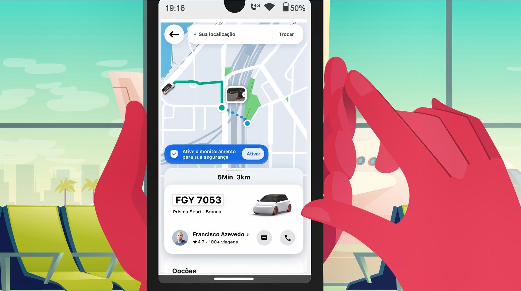 App 99 vai usar Google Street View para mostrar onde passageiro deve esperar