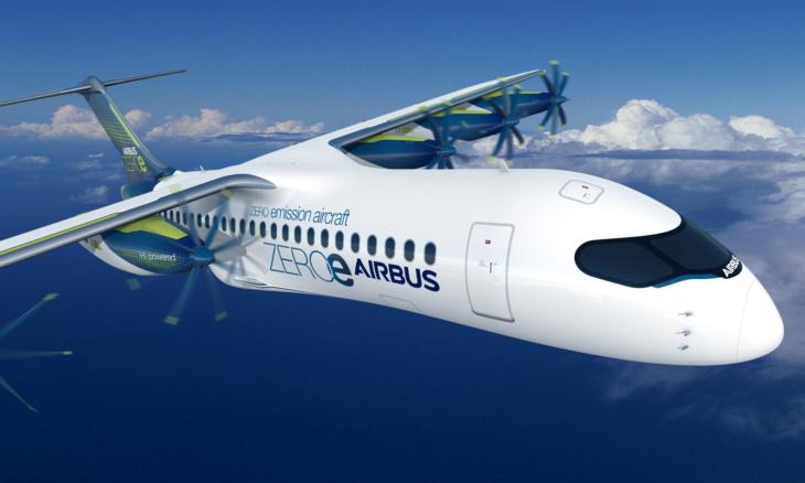 Airbus estuda novo modelo de avião a hidrogênio