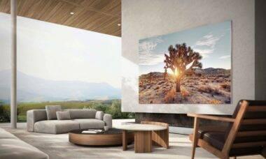 """Samsung anuncia nova TV 4K de 110"""" com painel MicroLED"""