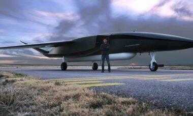 Frota com os maiores drones do mundo poderá lançar um satélite a cada 180min. Foto: Divulgação / Aevum