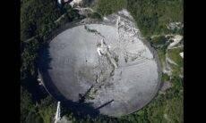 Plataforma do Observatório de Arecibo de 900 toneladas desaba e destrói telescópio. Foto: Instagram