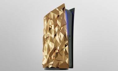 Caviar anuncia PS5 de luxo feito com 20 kg de ouro