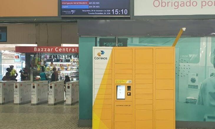 Correios lança serviço de entrega com armários inteligentes