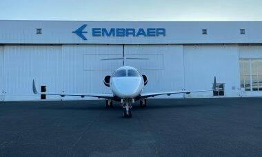 Embraer faz primeira conversão de Legacy 450 em Praetor 500 na Europa