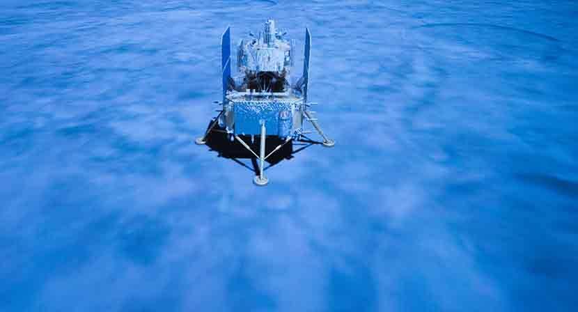 China anuncia pouso de espaçonave na lua para recolher material. Foto: Xinhua/Jin Liwang