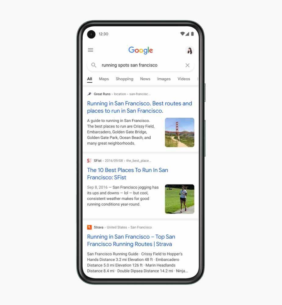 A Pesquisa Google tem um novo design para celular - veja as diferenças. Foto: Divulgação