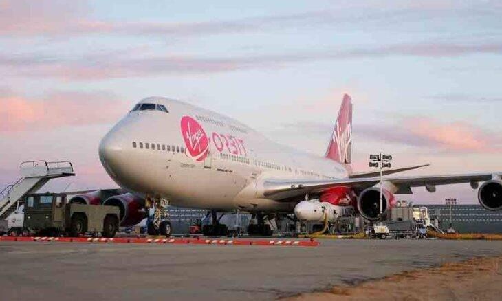 Foguete lançado da asa de um Boeing 747 atinge o espaço. Foto: reprodução Instagram