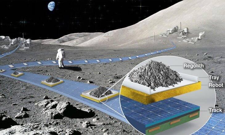 """Nasa vai estudar potencial para uma """"ferrovia"""" na Lua"""