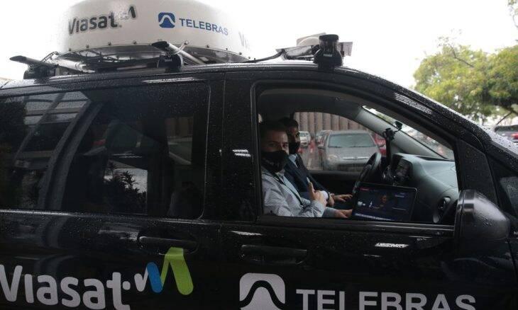 Ministério das Comunicações apresenta protótipo de internet via satélite para veículos