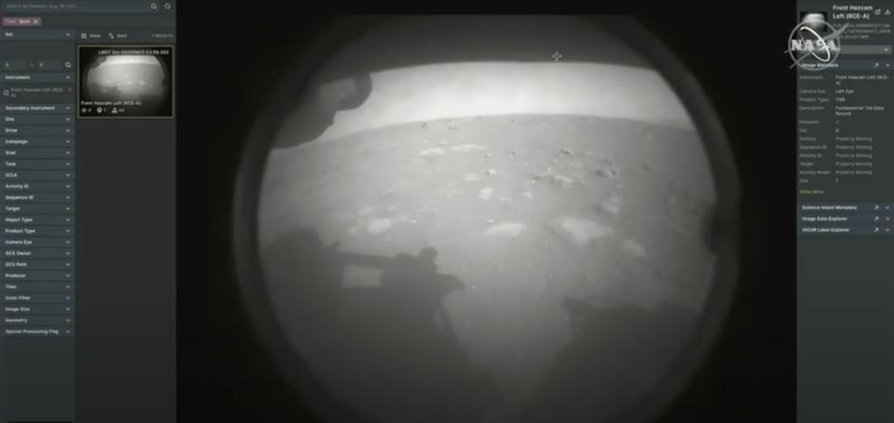 Sonda Perseverance pousa em Marte após uma viagem de 203 dias