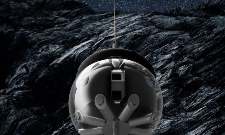 Europa revela sonda com formato de bola que vai explorar cavernas lunares