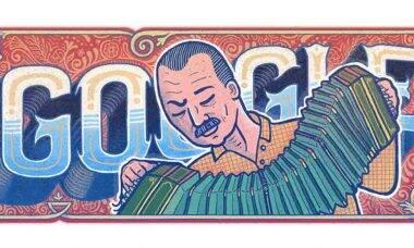 Astor Piazzolla: Google comemora o 100º aniversário do bandoneonista e compositor argentino . Foto: Google/Dvulgação