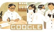 Google homenageia o epidemiologista Wu Lien-teh, inventor da precursora da máscara N95. Foto: Divulgação