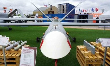 Orion: primeiro drone de combate russo. Foto: Vitaly V. Kuzmin/vitalykuzmin.net