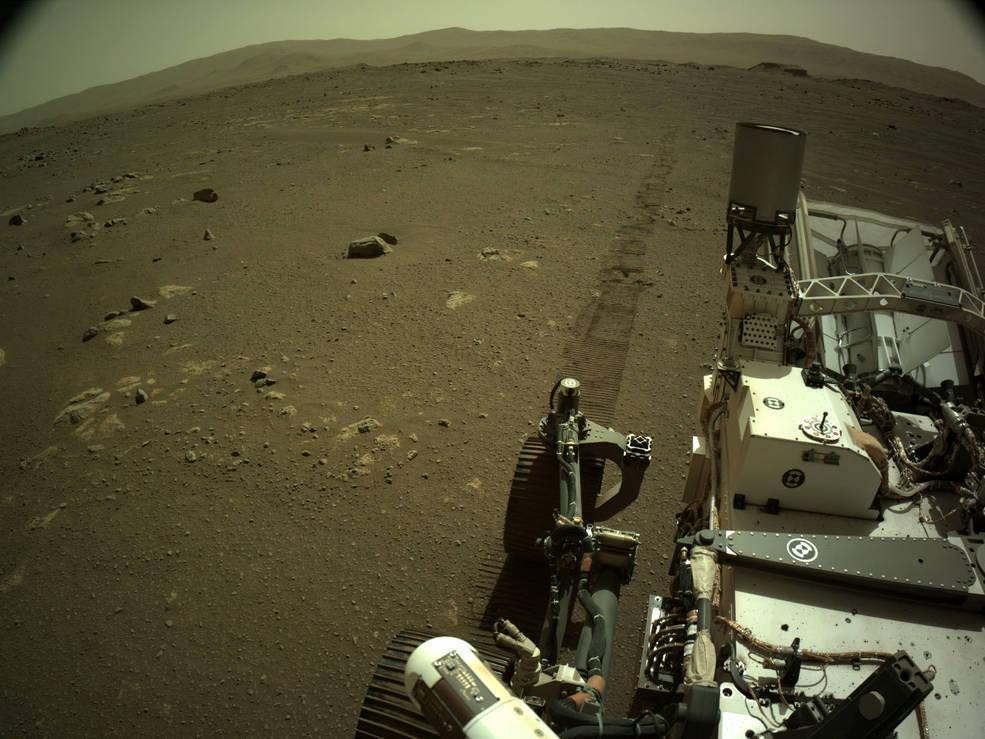 Perseverance divulga primeiros sons dos seu passeios em Marte