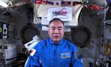Astronauta japonês da ISS manda recado para o Brasil