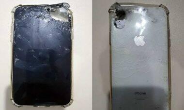 iPhone vira escudo contra tiro e salva comerciante em assalto