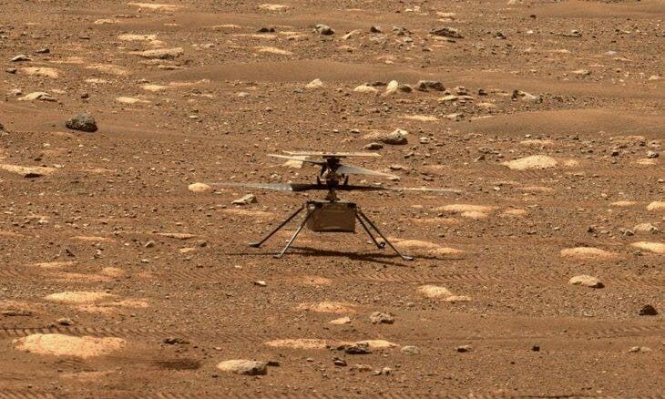 Helicóptero Ingenuity Mars vai tentar 1º vôo em Marte neste domingo (11)