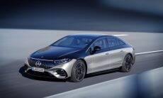 Elétrico de luxo da Mercedes, EQS tem painel panorâmico e portas que abrem e fecham sozinhas